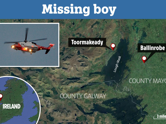 Boy, 5, missing after 'falling from inflatable' on lake in Ireland as major search under way