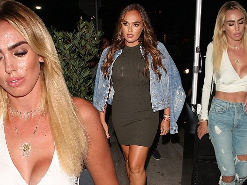 Petra joins leggy Tamara Ecclestone on double date at Madeo