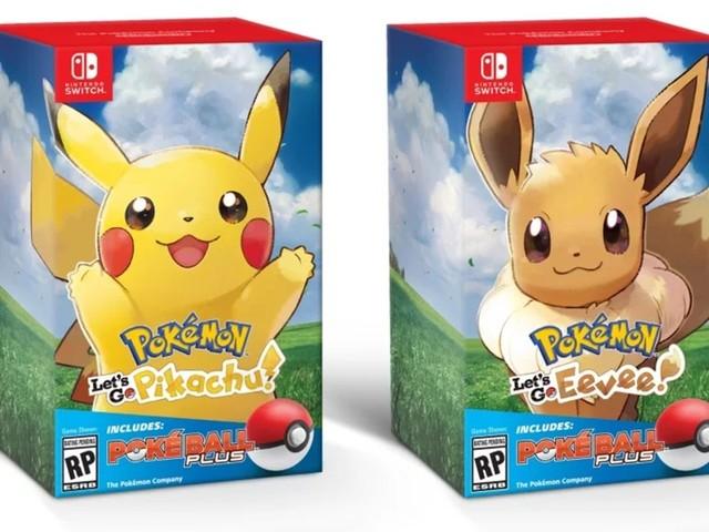Let's Go Pikachu and Eevee bundles including Poké Ball Plus emerge