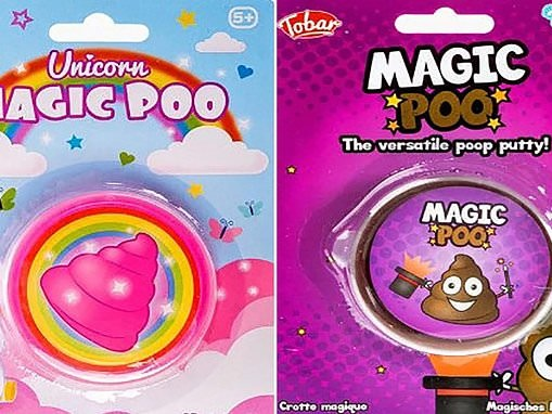 'Unicorn magic poo' slime pots are removed from shelves over health fears