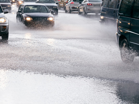 Heavy rain to continue throughout the day as emergency services deal with several road collisions