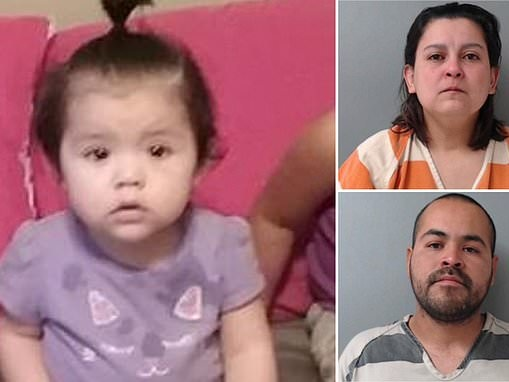 Parents of three-year-old girl charged after her remains were found in bucket of acid in a closet