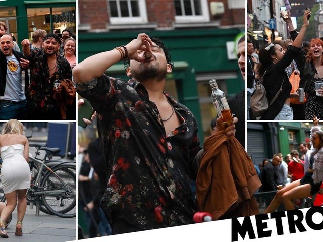 Thousands of drinkers swarm streets as pubs reopen on 'Super Saturday'