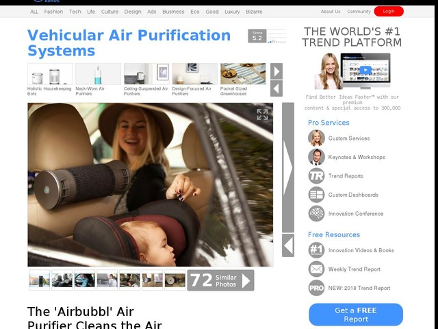 Vehicular Air Purification Systems - The 'Airbubbl' Air Purifier Cleans the Air Within Your Car (TrendHunter.com)