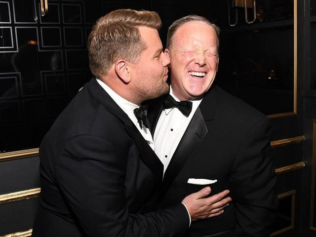 Sean Spicer Got a Warm Reception at the Emmys, but the Rest of Hollywood Wasn't So Forgiving