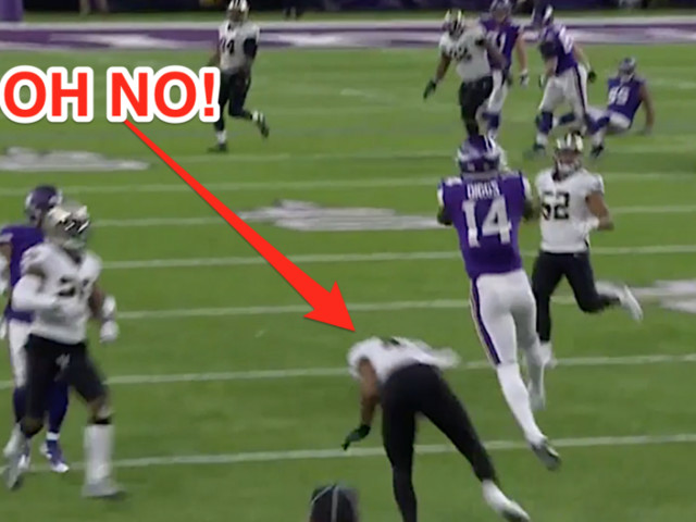 The Vikings' miracle touchdown was made possible when a Saints defender played the pass in the worst way possible