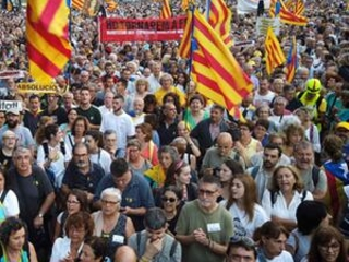 Thousands march as Catalonia marks secession vote date