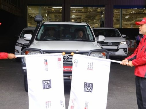 Toyota Five Continents Drive Embarks On Its Journey In India