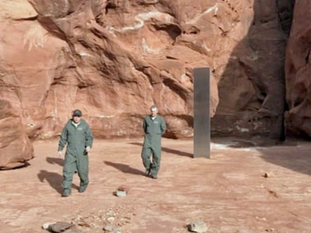 What is a mysterious metal monolith doing in the Utah desert?