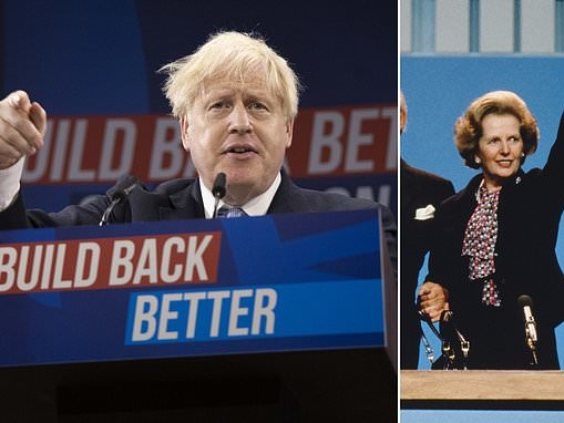 DAN HODGES: Boris's new Tory vision is as bold as anything Maggie ever tried