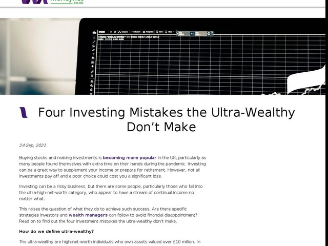 Four Investing Mistakes the Ultra-Wealthy Don't Make
