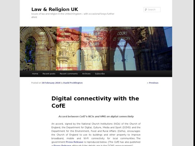Digital connectivity with the CofE