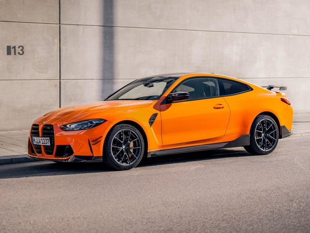 Stunning Fire Orange BMW M4 Competition with M Performance Parts