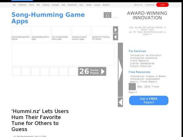 Song-Humming Game Apps - 'Hummi.nz' Lets Users Hum Their Favorite Tune for Others to Guess (TrendHunter.com)