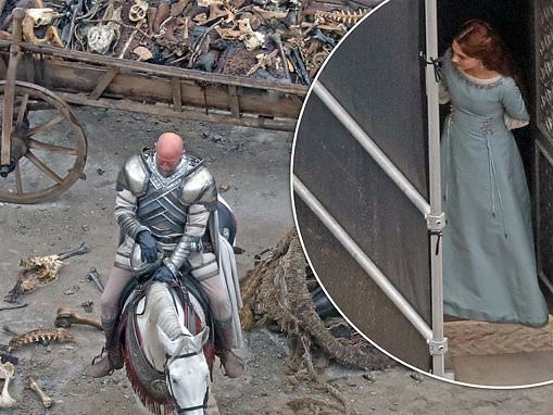 Graham McTavish and Olivia Cooke pictured on set of Game of Thrones prequel House of the Dragon