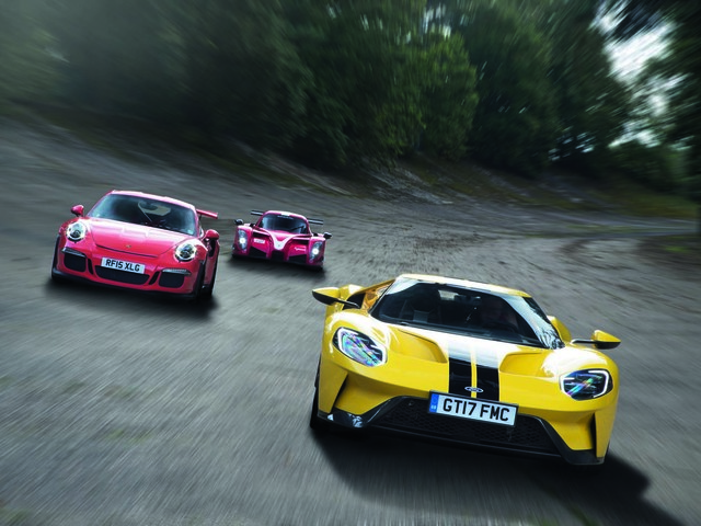 Ford GT vs Radical RXC Turbo vs Porsche 911 GT3 RS: supercar battle