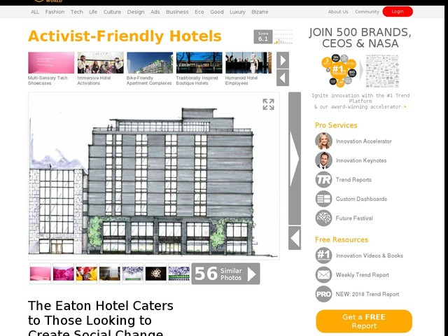 Activist-Friendly Hotels - The Eaton Hotel Caters to Those Looking to Create Social Change (TrendHunter.com)