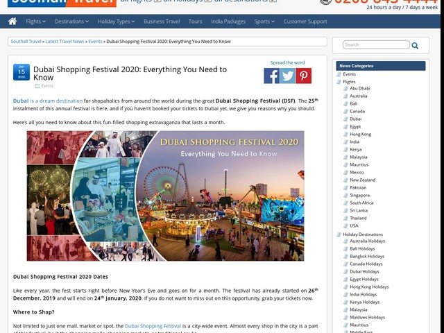Dubai Shopping Festival 2020: Everything You Need to Know