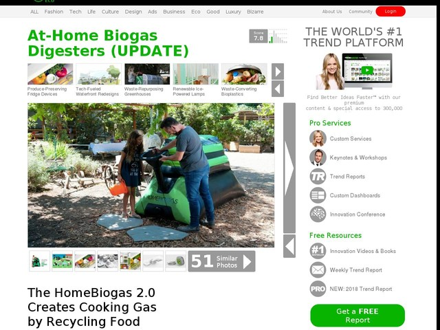 At-Home Biogas Digesters (UPDATE) - The HomeBiogas 2.0 Creates Cooking Gas by Recycling Food Scraps (TrendHunter.com)