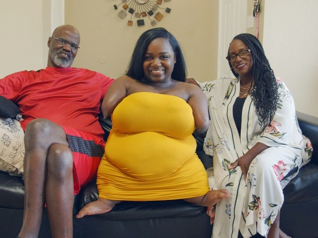 Woman born without hands or legs reveals how 'glamming' up deals with the haters