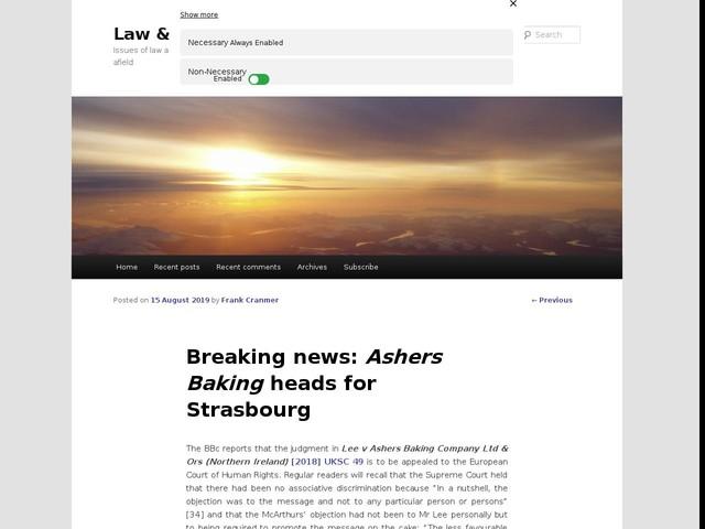Breaking news: Ashers Baking heads for Strasbourg