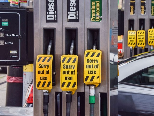 UK gas stations are running dry due to panic-buying and a supply-chain crisis. Boris Johnson may deploy the military to drive extra supplies.
