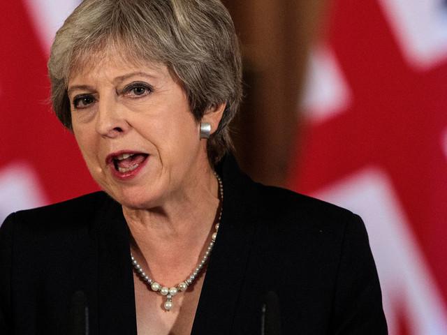 Theresa May Gives Brexit Statement At Downing Street