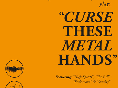 Review: Members of Conjurer and Pijn come together for a celebration of the transcendently joyful power of heavy music on Curse These Metal Hands