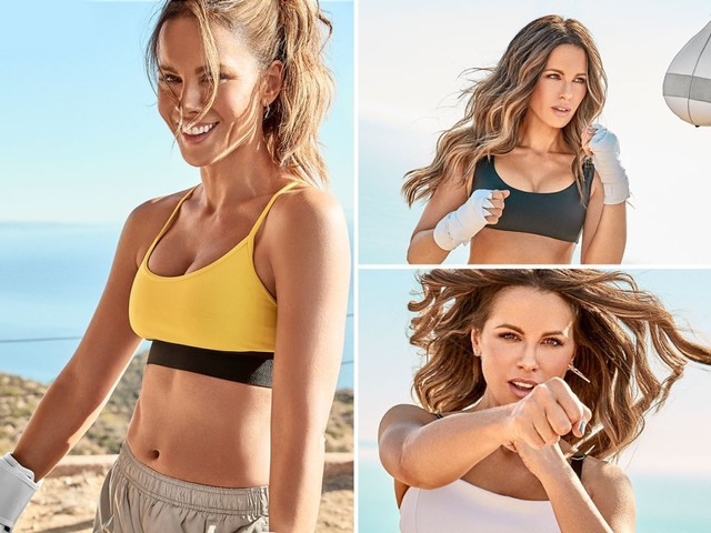 Kate Beckinsale looks incredible in a crop top and short for amazing beach photoshoot