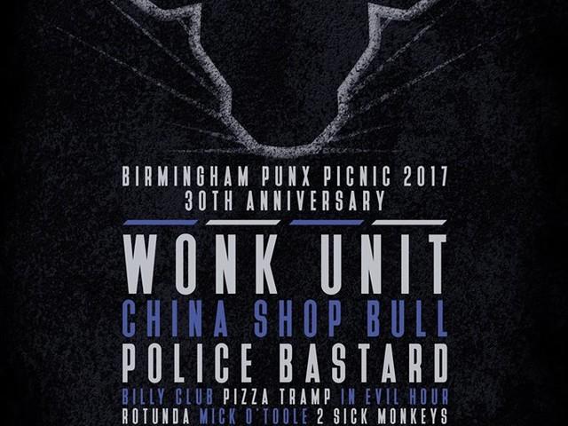 Birmingham Punx Picnic 2017 (30th Aniv) – 1- 3 Sept 2017