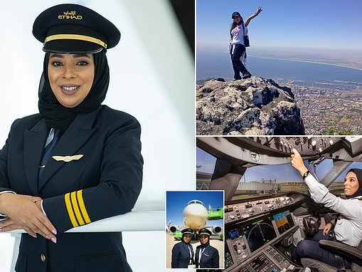 Emirates/Gulf's first female pilot opens up about her four-year battle to wear a headscarf at work