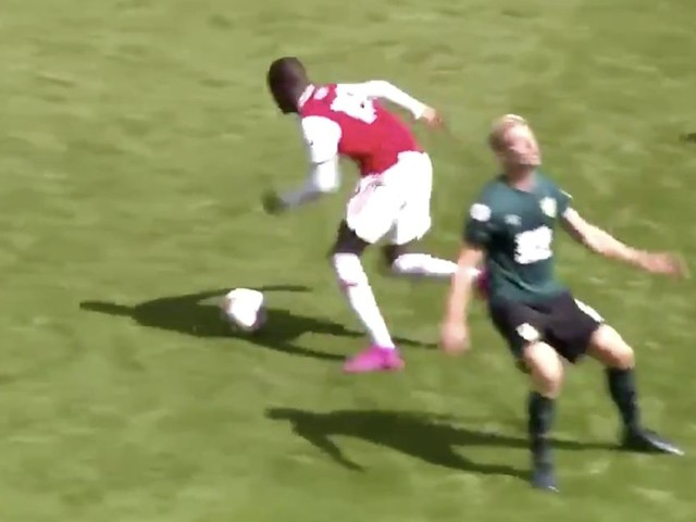 Nicolas Pepe thrills Arsenal fans will brilliant piece of skill on Emirates debut