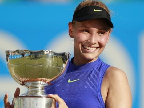 Nottingham Open: Donna Vekic upsets Johanna Konta to win title