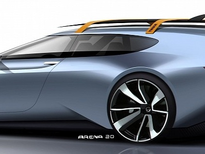Volvo P1800ES Rocket Rendering: A Cool Modern Tribute to a Cool Legendary Model