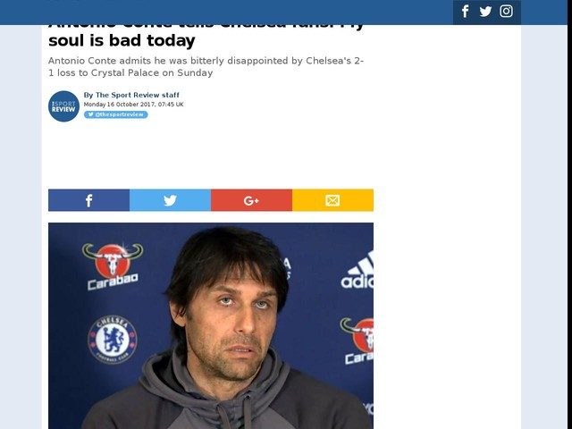 Antonio Conte tells Chelsea fans: My soul is bad today