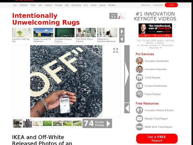 Intentionally Unwelcoming Rugs - IKEA and Off-White Released Photos of an Unfriendly Area Rug (TrendHunter.com)