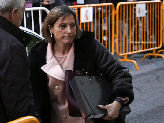 Catalan parliament speaker in court over independence bid