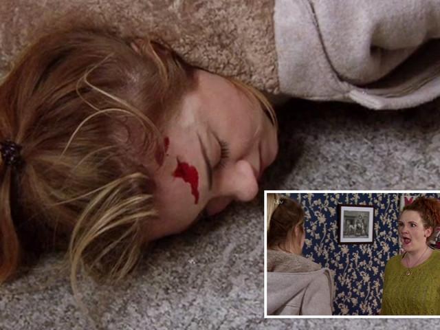 Coronation Street fans' horror as Fiz 'kills' Jade with a bread board