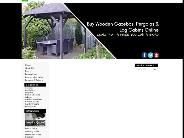 Buy Wooden Garden Gazebos & Garden Structures Online   Gazebo Direct