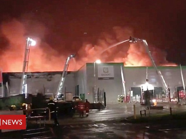 Ocado sales hit by warehouse fire