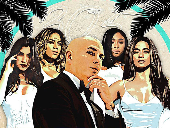 "Pitbull & Fifth Harmony Tease Their ""Por Favor"" Video On 'TRL'"