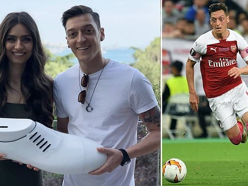 Mesut Ozil and fiance Amine Gulse display incredible generosity as part of wedding celebrations