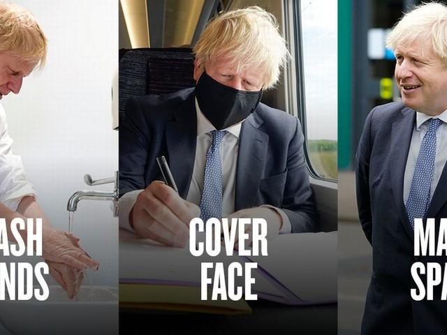 Hands, face, space - Boris Johnson's coronavirus slogan leaves Twitter baffled