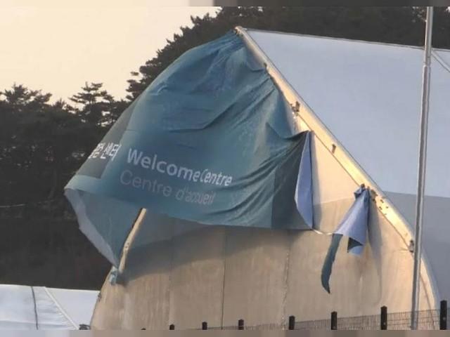 High winds hamper Winter Olympics