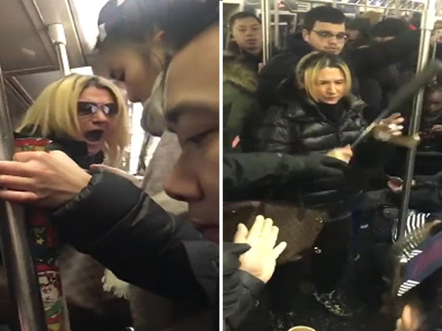 Woman charged in apparent violent, racist tirade on NYC train