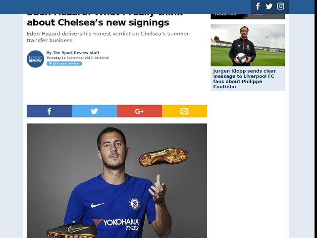 Eden Hazard: What I really think about Chelsea's new signings