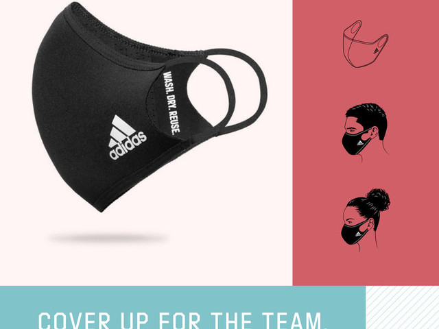 Branded Reusable Face Masks - adidas Has Released 'Face Cover,' Which is Made from Recycled Material (TrendHunter.com)