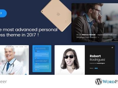Jab - Advanced Personal Resume / CV vCard Theme (Portfolio)