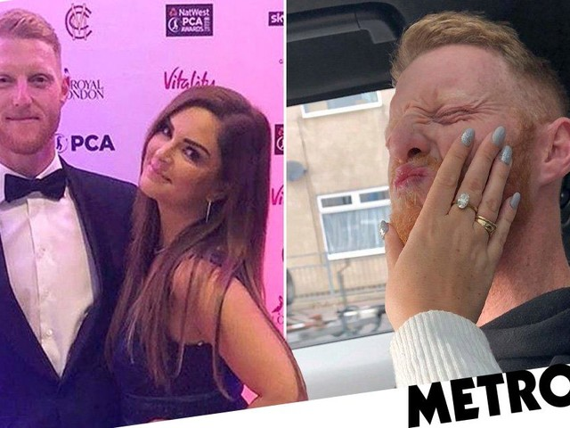 Ben Stokes wife slams 'nonsense' claims cricketer grabbed her throat as she shares playful picture