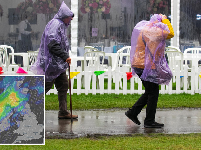UK weather forecast – Britain braced for weekend washout as Met Office issues heavy rainstorm warnings